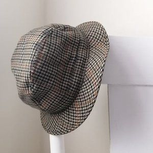 intage Wool and Cashmere Brown Houndstooth